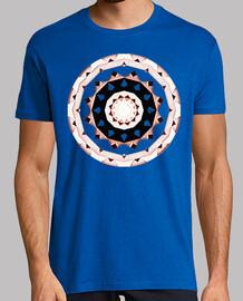 Mandala 1.2 cuello pico camiseta hombre