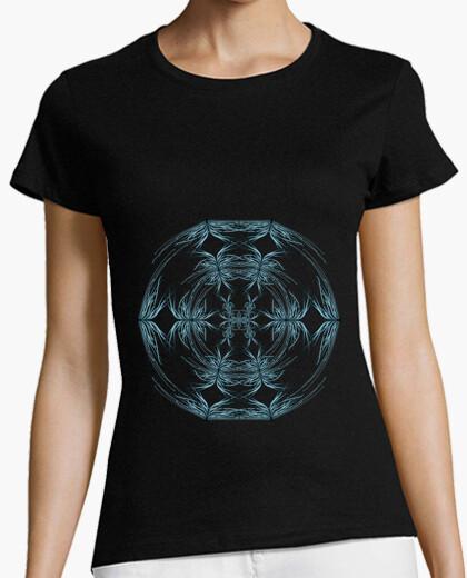 Camiseta Mandala azul y blanco
