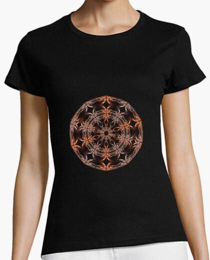Camiseta Mandala beige , naranja y marrón