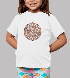 Mandala beige , naranja y marrón