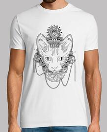 mandala chat, chemise homme