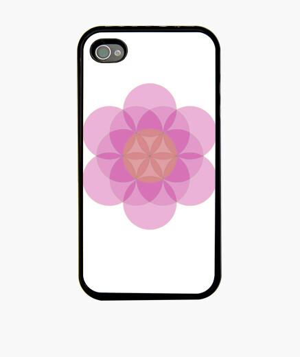 Funda iPhone Mandala Flor de la Vida Violeta