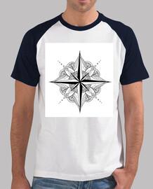 Mandala. Hombre, estilo béisbol, blanca y azul royal