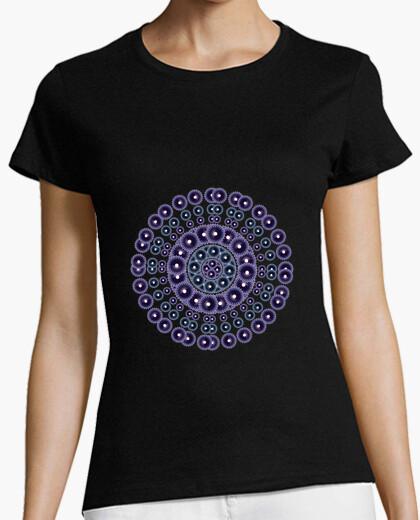 Camiseta Mandala morado y azul