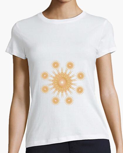 Camiseta Mandala naranja y melocotón