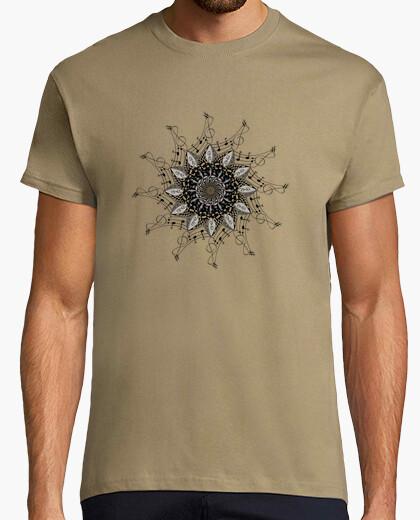 Camiseta mandala notas musicales