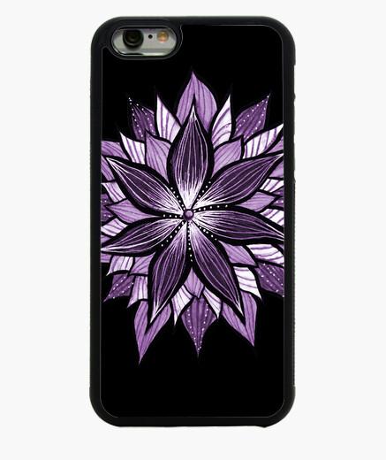 Funda iPhone 6 / 6S mandala púrpura como flor abstracta