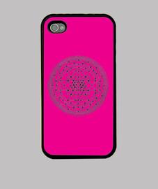 Mandala rosa - iPhone 4, negra