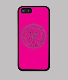 Mandala rosa - iPhone 5 / 5s, negra