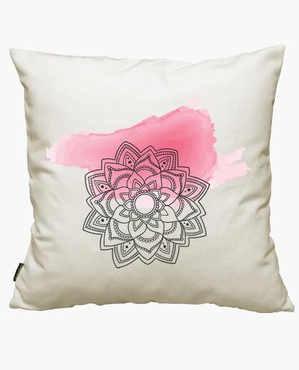 Housse de coussin mandala rose