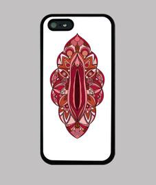 mandala vagina copertura di iphone 5 / 5s
