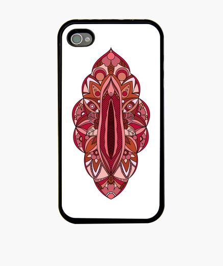 Mandala Vagina Funda iPhone 4, negra