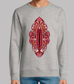 mandala vagina homme sweatshirt