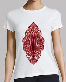 Mandala Vagina Mujer, manga corta