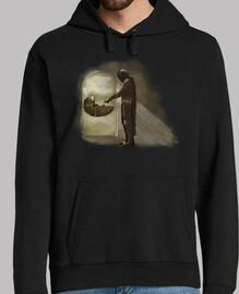 mandalorian color, sweatshirt man
