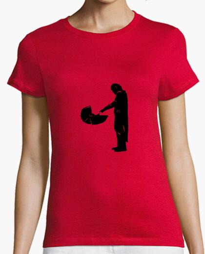 Camiseta Mandaloriano negro mujer manga corta