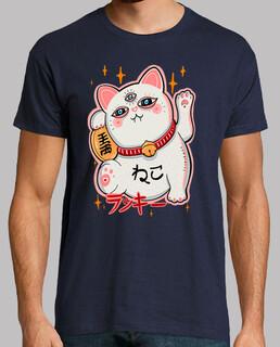 manekineko gato de la suerte japonés - azul