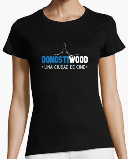 Camiseta Manga corta mujer - Logo DONOSTIWOOD