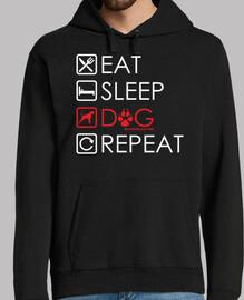 manger dormir chien