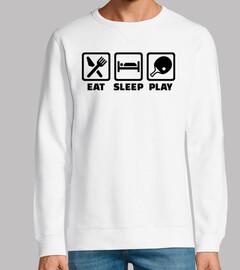 manger dormir jouer au ping-pong