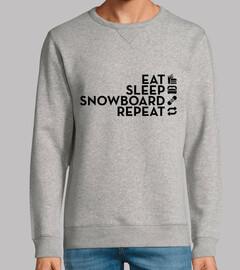 manger dormir snowboard répéter noir