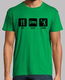 manger, dormir, tennis
