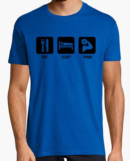 Tee-shirt manger, dormir, train