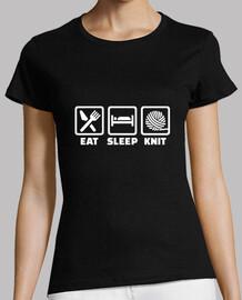 manger dormir tricot