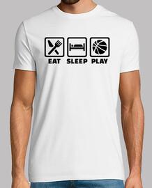 manger jeu de basket-ball de sommeil