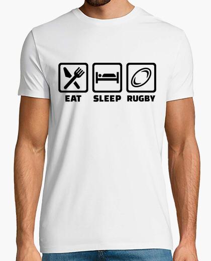 Tee-shirt manger le rugby de sommeil