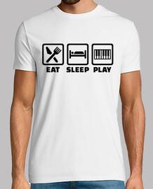 mangez le jeu de piano de sommeil