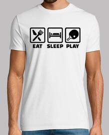 mangez le jeu de ping-pong du sommeil