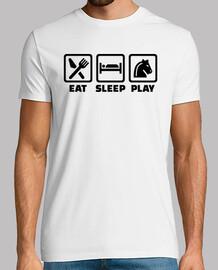 mangiare dormire giocare a scacchi