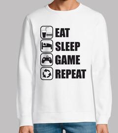 mangiare dormire gioco ripetere