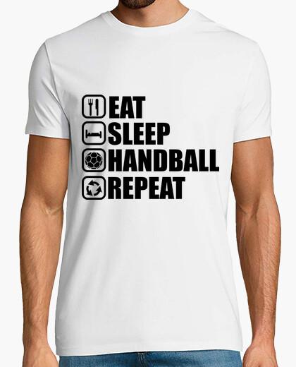 T-shirt mangiare, dormire, pallamano, ripetere