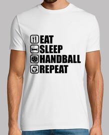 mangiare, dormire, pallamano, ripetere