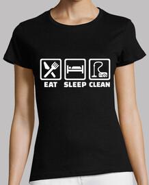 mangiare dormire pulito