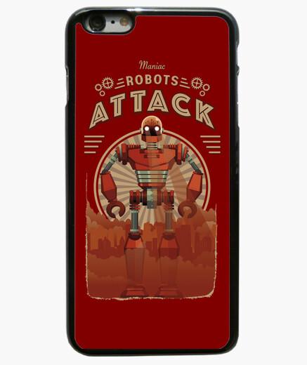 Funda iPhone 6 Plus / 6S Plus maniac robots attack vintage