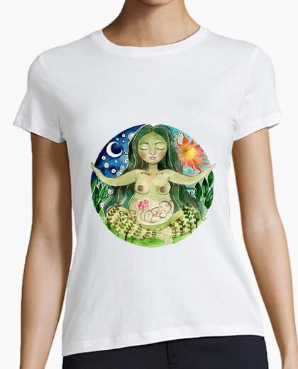 T-shirt manica corta donna mamma earth