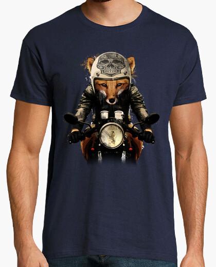T-Shirt mann - fuchs biker