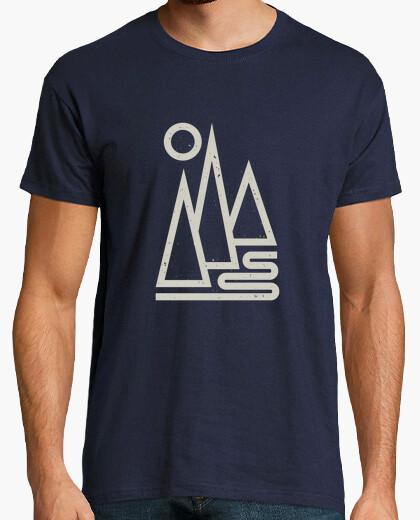 T-Shirt mann - geometrische berge