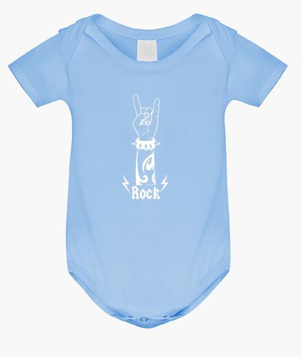 Abbigliamento bambino mano di rock (Bianco)
