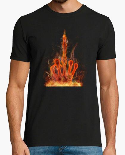 Camiseta Mano fuego