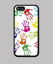 Manos fondo blanco iPhone 5
