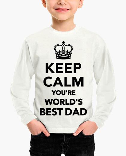 Ropa infantil mantén la calma eres la mejor da del mundo