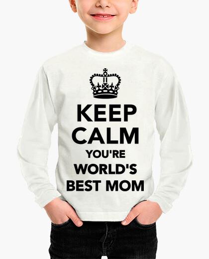 Ropa infantil mantén la calma eres la mejor mamá del mundo