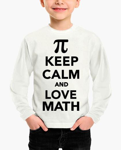 Ropa infantil mantén la calma y ama la matemática pi