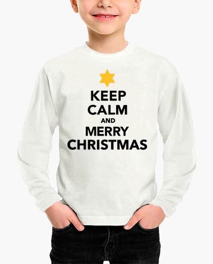 Ropa infantil mantén la calma y feliz navidad