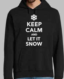 mantén la calma deja que nieva