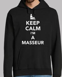 mantén la calma soy un masajista